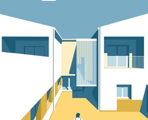 Casa Sogo - vivienda - Antonio Olaya - Henar Herrero - Ana Gomez - Ahaus Arquitectos - Moguer - Mortero cal - Teja - U glass