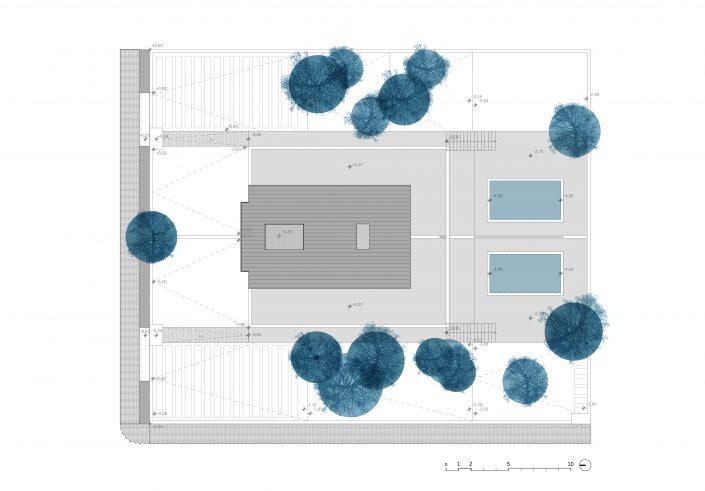 Dos Flores - Pareados - Vivienda- Antonio Olaya - Henar Herrero - Ana Gomez - Ahaus Arquitectos - Mazagon - Palos de la Frontera - Ladrillo visto - Teja Zinc
