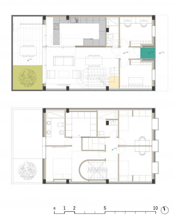 Olve - Casa - Reforma - Rehabilitacion - Vivienda- Antonio Olaya - Henar Herrero - Ana Gomez - Ahaus Arquitectos -San Juan del Puerto - Huelva - Madera - Porcelanosa - Escalera