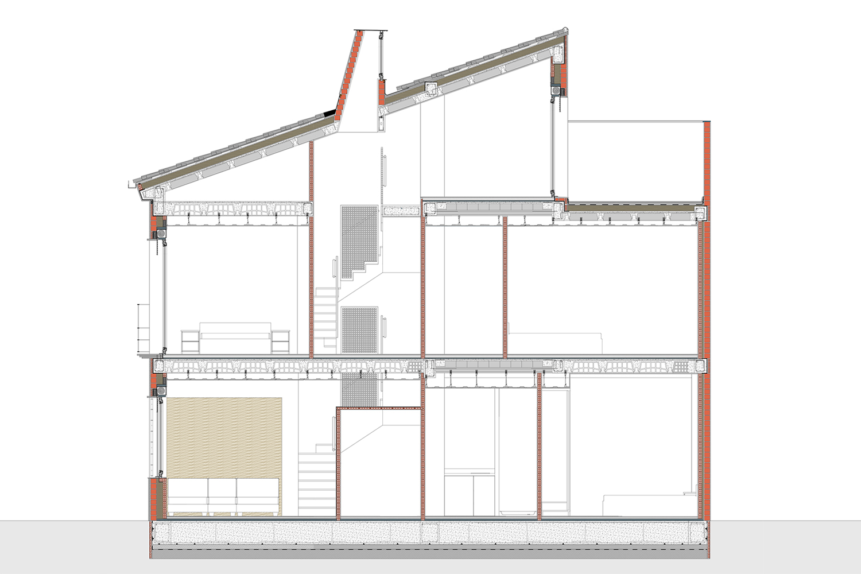 Casa Dos Chimeneas - Vivienda - Unifamiliar - Antonio Olaya - Henar Herrero - Ana Gomez - Ahaus Arquitectos - El cerro de Andevalo - Huelva - Mortero cal - Granito - Acero - Escalera